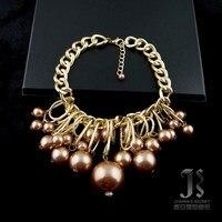 двойной 12 большой мод сбой из жемчуга короткие дизайн женский начать ожерелье аксессуары