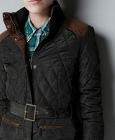 мода женщин тонкий элегантный ватные пуховик з парка хлопок - хлопка-проложенный верхней одежды зимние пальто