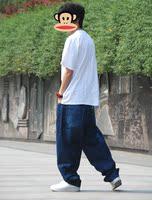 мужчины ' платье танцы хип-хоп с би-бой одежда хип-хоп одежда брюки скейтборд нарушение вилочная часть подросток джинсы k392