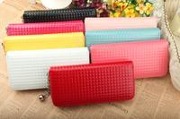 женщины в длинная дизайн бумажник квадрат сетка один молния длинная дизайн бумажник