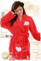 сладкий принцесса любовь осень и зима утолщение ватки пижамы сексуальное любовь женщин халат