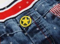 sunlun бесплатная доставка лето кошка карман пункт мальчиков одежда девочек одежда джинсы 7 КЗ-0918