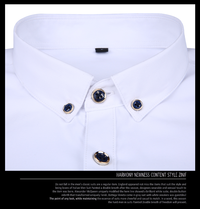 Men long-sleeve shirt Korean style 2019 spring and autumn teenage boy fashion shirt male slim print letter blue black white 11