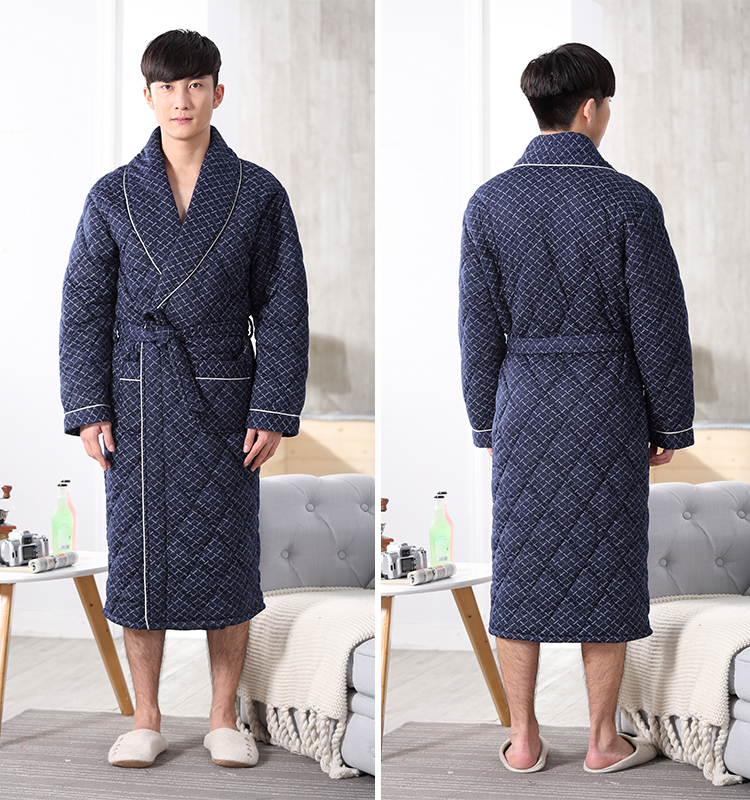 Brand New Winter Men s Nightgowns Warm Robes for Men Bath Robe ... 4c8a72f6f