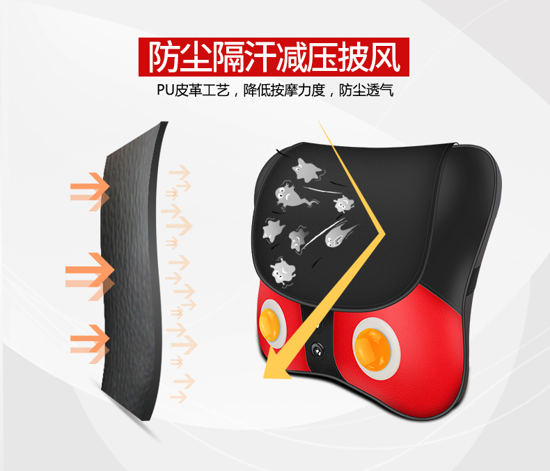 Free Shipping Neck Massager Pillow Electric Shiatsu Cervical Massager Device Household Multifunctional Body Massage Cushion 25