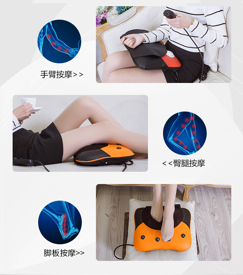 Free Shipping Neck Massager Pillow Electric Shiatsu Cervical Massager Device Household Multifunctional Body Massage Cushion 17