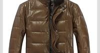 бесплатная доставка высокое качество мужская genunie Cage одежда пуховик Китай верхняя одежда из кожи тонкий куртка hbc107