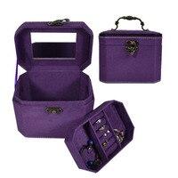 двойной слой качество перед flannelet коробка для ювелирных изделий для хранения ювелирных изделий косметическая коробка