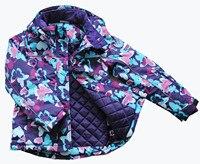 зима девочка лыжный костюм ветрозащитный непромокаемые хлопок - хлопка-ватник зимнюю одежду