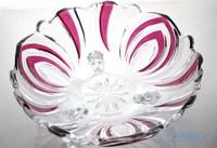 современный кристалл стекло фрукты блюдо конвертировать плита