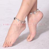 танец живота костюмы металлический колокол ножные браслеты танец живота ноги, декоративные танцы браслеты для ног цепи одного
