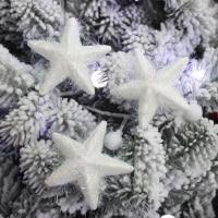горячая распродажа белая пена рождество - звезда новогоднее украшение кулон 8 см 30 шт./лот