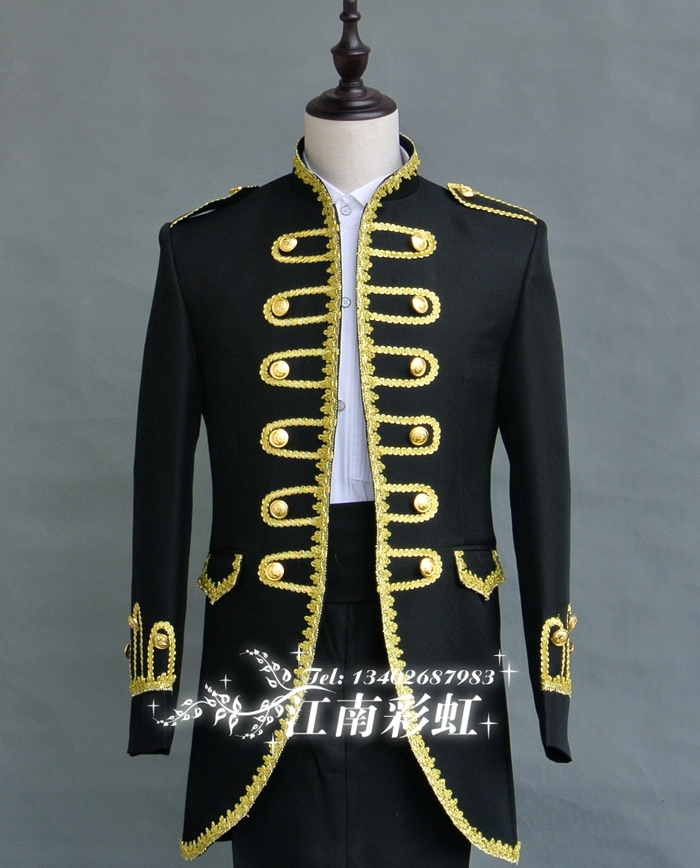 2016 fashion Men royal costume fashion vintage wedding dress men singer  clothing suit set party clothes bar performance show-in Suits from Men s  Clothing   ... b92b8e22da18