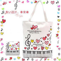 влюбленность музыка свободного покроя сумки брезент мешок / наплечная сумка