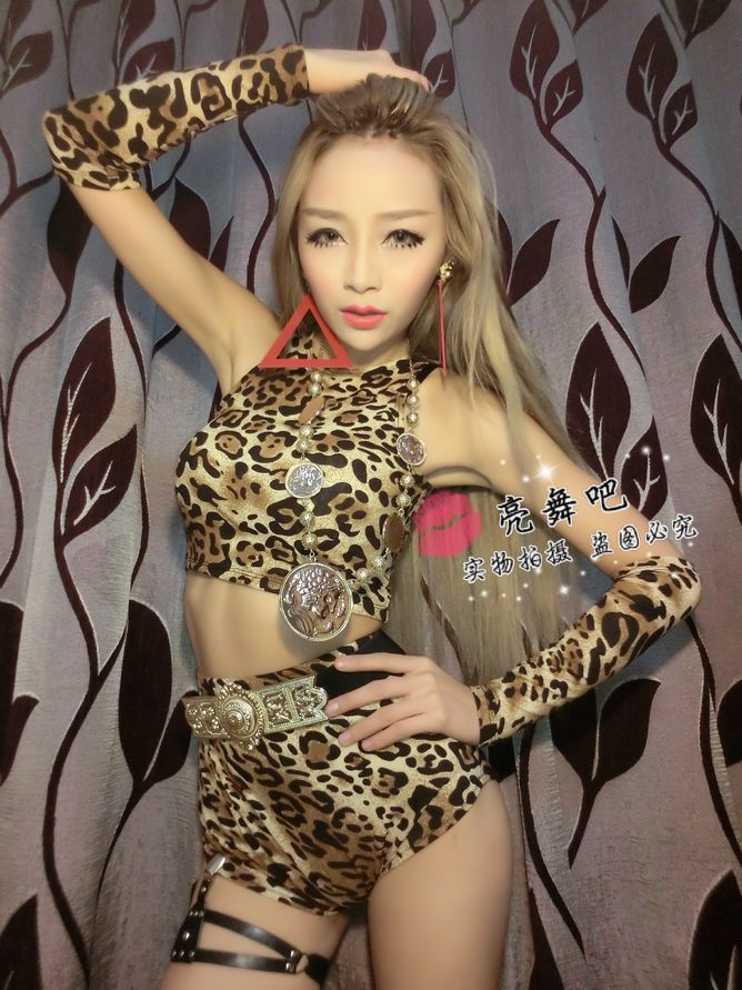 8d06a01bfd0 Dance performances clothing costume 3 pcs Nightclub sexy feather ...