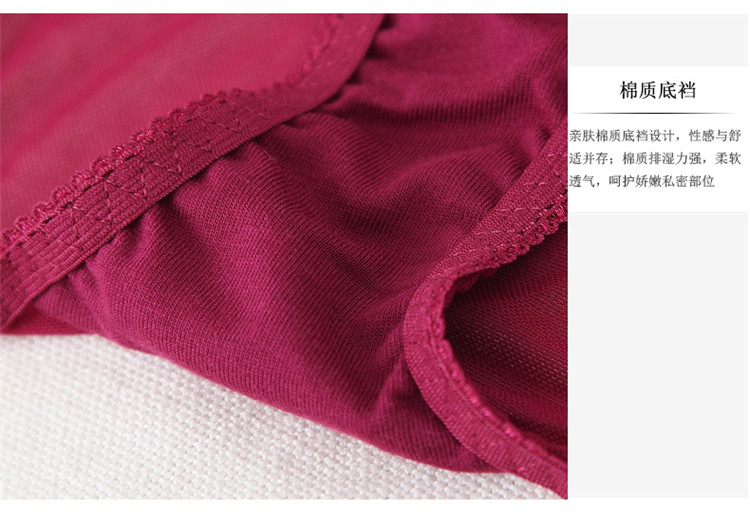 Sexy transparent women's ultra-thin lace bra set sexy briefs set underwear hot sexy bra and panties 17