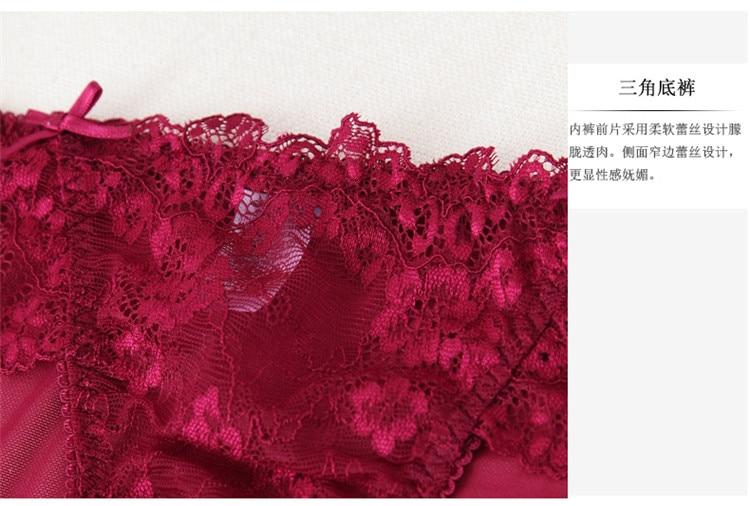 Sexy transparent women's ultra-thin lace bra set sexy briefs set underwear hot sexy bra and panties 16