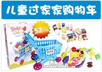 ребенок тележки ребенок супермаркет корзина игрушка 52 еда фрукты и овощи