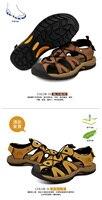лето обувь для ходьбы уличной обуви мужчины сандалии из натуральной кожи сандалии 18073