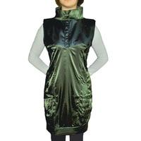 осень женщин mercer обвинение кожа Ton Tale широкий пост стоит тонкий большой размер медсестра платье без рукавов