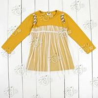sunlun бесплатная доставка осень бусины марли девушки одежда ребенка с платье с рукавами КЗ-0276