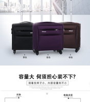 высокое качество 16 дюймов коммерческих ткань оксфорд computher путешествия багажные сумки на универсальные диски, черный/фиолетовый/коричневый багажные сумки