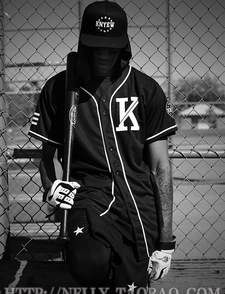 dc2c9d5d Vintage Fashion Unisex LA KTZ Tyga Hip Hop Allover T Shirt Baseball ...