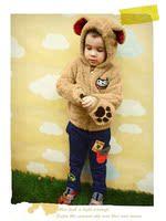 бесплатная доставка детские осень и зима горяч-прод медвежонок кроличьи уши плюсы с caption верхняя одежда пальто MOL