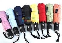 зонтики конфеты цвет сплошной цвет лаконичный погода муджи автоматическое раскладной зонтик
