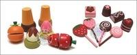 торт чемодан торт ко дню рождения сочетание по уходу за детьми деревянные игрушки qieqie см . фрукты