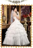 бесплатная доставка невесты верхнюю часть пробки сексуальное краткое принцесса свадебное платье сладкий элегантный органза большой размер свадебное платье