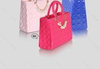 благородный конфеты цвет элегантный жемчуг украшение сумки шотландка мешок женщины сумочка / сумочка невесты