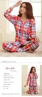 весна и осень зима 100% хлопок чистого хлопка в горошек длинный кардиган пижама для отдыха