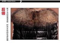 бесплатная доставка средней длины - вниз женский тонкий овчины из натуральной кожи одежда верхняя одежда