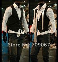 бесплатная доставка мода мужской костюм ядер гель топ тонкий и Fit с Росс delaware платье Gel 3 кнопки черный белый