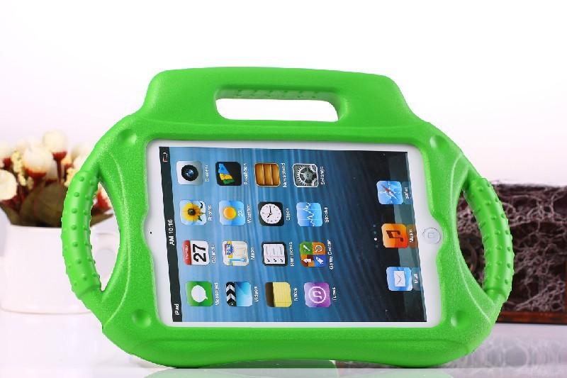 3д комикс радио образную красочные дети доказательство толстый пена EVA на рукоятка чехол для яблоко iPad мини-чехол стойка