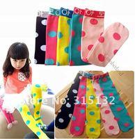 оптовая продажа бесплатная доставка 10 пара/лот новорожденных девочек хлопок icolor точка дети конфеты принцесса носки 1 - 8 т
