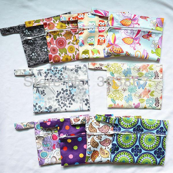 1081725005 642 [Sigzagor] 1 Small Mini Wet Bag Reusable for Mama Cloth Sanitary Menstrual Maternity Pad,Tampon,Cup Bib,Buyer PICK,35 Designs