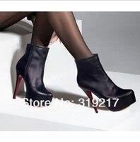 лучшие продажи женщин на высоких каблуках сапоги, леди скрытый туфли на платформе загрузки, высокое качество