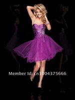 cd002 без бретелек тафта и тюль длиной до колен платье-линии платье с декольте тафта лиф