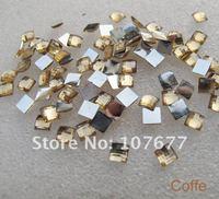 акриловые кофе плоский квадрат стразы 4 мм, 1000 шт./лот с одной цветовой свободная перевозка груза