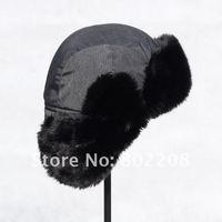 новый мода ветронепроницаемую зима охотник шляпа шапка черный хлопок зима теплая женщины / мужчины шляпа с бесплатная доставка