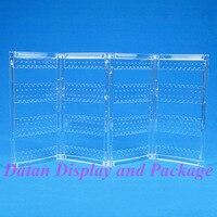 оптовая продажа высокое качество четкое представление пластиковые складной серьги подставка держатель экран 240 отверстия