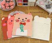 медвежонок rilakkuma милый ретро винтаж дневник тетрадь А6 памятка бланк корейский канцелярия школьные принадлежности подарок оптовая продажа