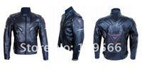 спецодежда мотоцикл служба локомотив принять локомотива ПУ кожаная куртка da01 черный ПУ кожаная куртка