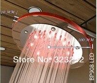 """8 """" круг осадков ABS из светодиодов дождь душевая Folk ванная душ цветок crop"""