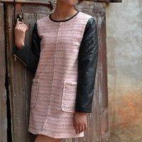 бесплатная доставка! женщины осень зима новинка кожаные рукава свободного покроя пла куртка 954