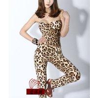 бренд модный женщины в девочка в одежда / брюки сексуальный бандо леопардовый комбинезон / комбинезон
