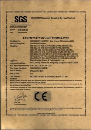CE of Handheld refractometer-300