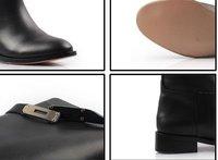 лучшие продажи новые мода сапоги - сапоги каблук из натуральной кожи ботинки бесплатная доставка